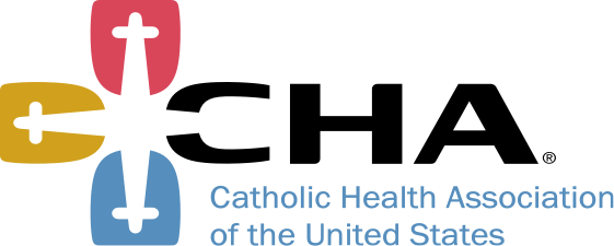 Vector graphic and Text: Catholic health association of the United States
