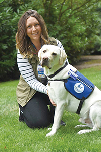 Child life specialist and service dog
