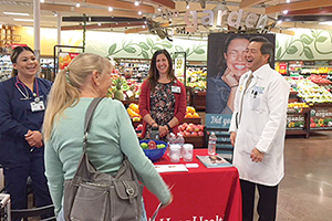 "Shoppers at a ""Shop with your Doc"" event"