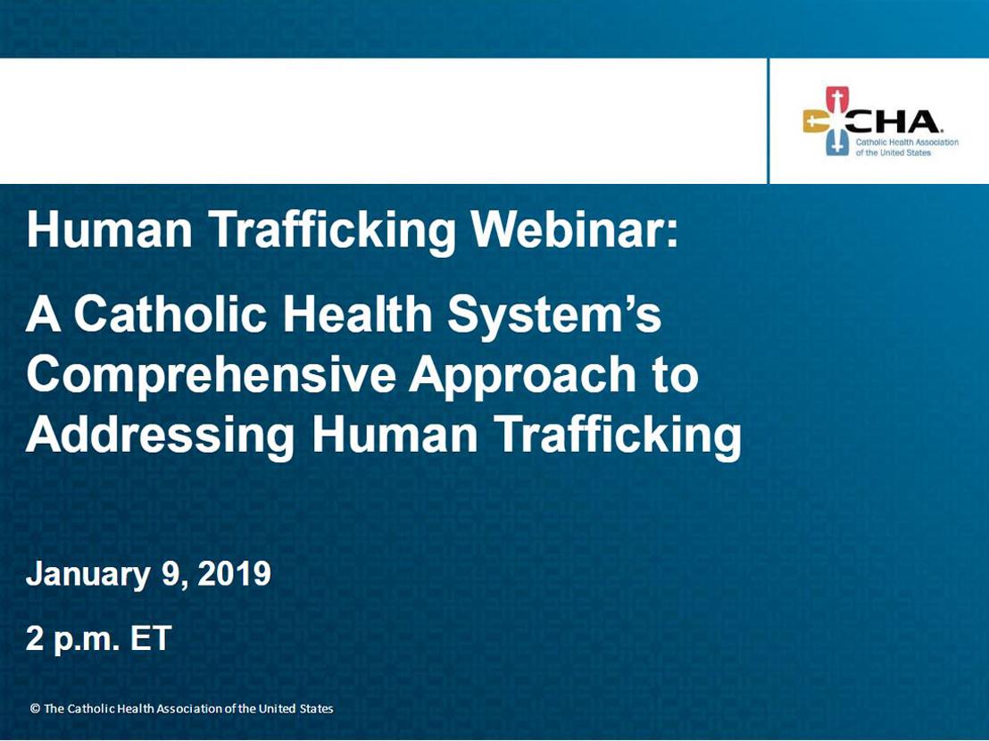 Human Trafficking Webinar