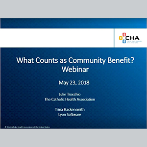 What Counts as Community Benefit Cover
