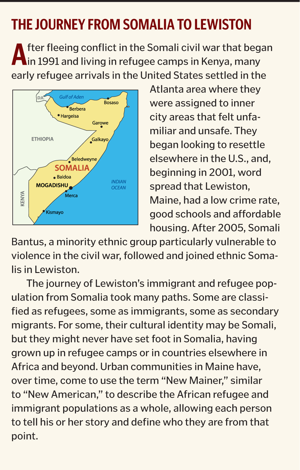 The Journey from Somalia to Lewiston