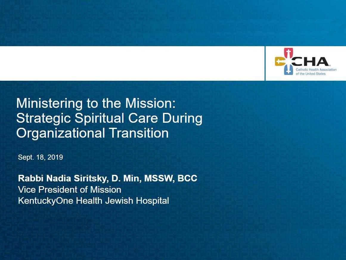190918 Spiritual Care cover