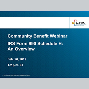IRS Form 990 Schedule H-cover