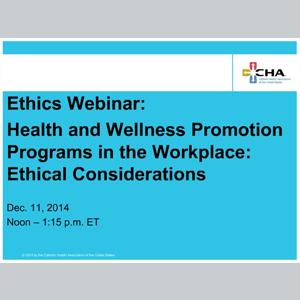 Learning_121114_EthicsWebinarHealthAndWellnessPromotion