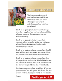 Prophetic Voice Prayer Card (Packs of 50)
