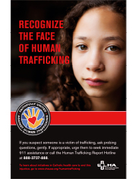 Human Trafficking Poster – Recognize the Face of Human Trafficking