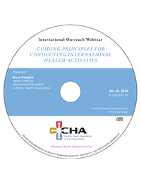 Guiding Principles for Conducting International Health Activities - International Outreach Webinar Recording - January 20, 2016 (CD)