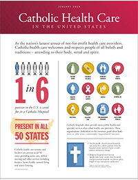 The Strategic Profile of Catholic Health Care in the United States (2016)