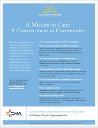 The Mission of Community Benefit Flyer