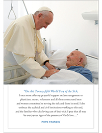 2017 World Day of the Sick Prayer Card