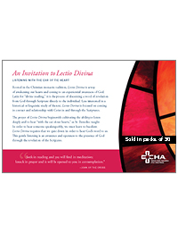 Lectio Divinia - A Process Guide (Packs of 50)
